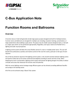 C-Bus Application Note Function Rooms and Ballrooms, 26925