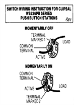 Wiring Instructions - WS226PB Series push button stations - F254