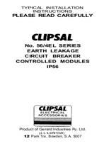 Installation Instructions - 56/4EL series earth leakage circuit breaker controlled modules - F284