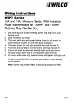 Wiring Instructions - WIPT Series - F1037