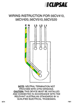 Wiring Instructions - 56CV410, 56CV420, 56CV510, 56CV520 - F981