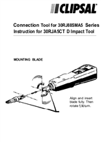 Operating Instructions - Connection tool for 30RJ88SMA5 Series instruction for 30RJA5CT D impact tool - F1061