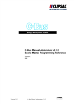 Operating Instructions - C-Bus Manual Addendum V2.1.2 and Scene Master Programming Reference