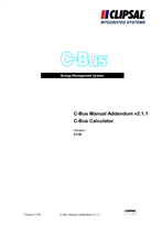 General Instructions - C-Bus2 Manual Addendum V2.1.1, C-Bus Calculator, Version 211B