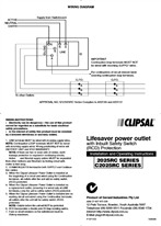 Installation and Operating Instructions - Lifesaver Power Outlet with Inbuilt Safety Switch (RCD) Protection - F1071/03