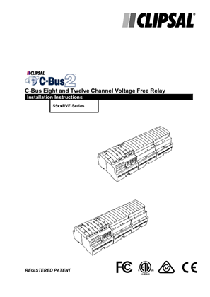 Installation Instructions - C-Bus 8 and 12 Channel DIN Relay 55xxRVF Series - 10364531