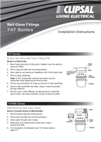 Installation Instructions - 747 Series Glass Fittings - F391/02