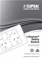 Installation Instructions - F2063/1 - Lifesaver® Safety Switch 2025RCD Series