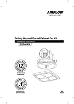 Installation Instructions - Ceiling Mounted Exhaust Fan CEF40WK, F1968