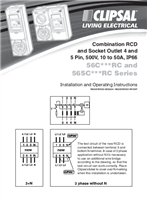 Installation Instructions - F2004/01 - 56CXXXRC & 56SCXXXRC Series Combination RCD and Socket Outlet, 17612