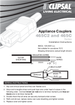 Installation Instructions - F1210/03 - 465C2 & 465C Series Appliance Couplers, 17744