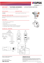 Product Data Sheet - 3110ANDV Cat5e Network Adapters, 16097