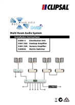 Installation Instructions - 560011, 560125D, 560125R, 560884 Multi Room Audio System