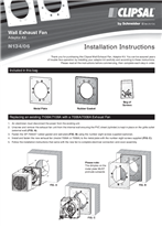 Installation Instructions - F1991/02 - N134/06 Wall Exhaust Fan Adaptor Kit, 19235