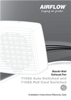 Installation Instructions - F1698/03 - 7106A, 7108A MaxAir Wall Exhaust Fan, 19005