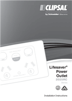 Installation Instructions - F2185 - 2025RC Series Lifesaver Power Outlet, 18921