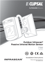 Installation Instructions - F975/11 - 750 Series Outdoor Infrascan Passive Infrared Motion Sensor, 19706