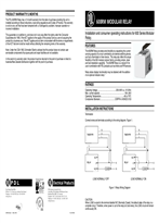 Installation Instructions - 600RM PDL 600 Series Modular Relay, 12865