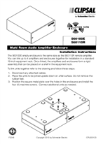 Installation Instructions - F2246 - C-Bus Multi Room Audio Amplifier Enclosure.
