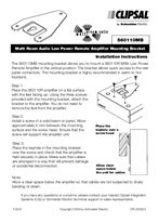 Installation Instructions - F2224 - C-Bus Multi Room Audio Low Power Remote Amplifier Mounting Bracket.