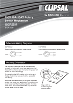Installation Instructions - F2136/02 - 60RSM Series 250V 10A-10AX Rotary Switch Mechinism, 19849