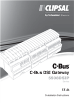 Installation Instructions - F1862/01 - 5508DSIP Series C-Bus DSI Gateway, 20675
