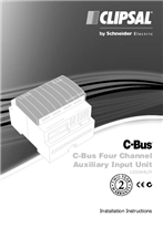 Installation Instructions - F1864/02 - L5504AUX C-Bus Four Channel Auxiliary Input Unit, 20761