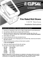 Installation Instructions - F1255/04 - 157 Series Fire Rated Wall Boxes, 21105