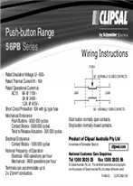 Installation Instructions - F1489/03 - 56PB Series Push-button Range, 21331