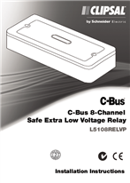 Installation Instructions - F2134 - L5108RELVP C-Bus 8 Channel Safe Extra Low Voltage Relay, 1036664