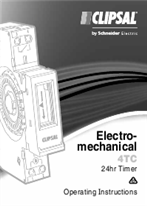 Installation Instructions - F1111/03 - 4TC Electro-mechanical 24hr timer, 21190