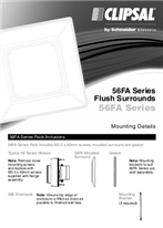 Installation Instructions - F062/04 - 56FA Series Flush Surrounds, 19602