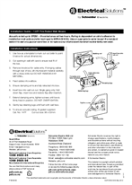 Installation Instructions - F1855/03 - 147F Fire Rated Wall Boxes, 21205