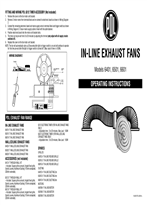 Installation Instructions - In-Line Exhaust Fans, Models 6401, 6501 and 6601