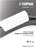 Installation Instructions - F1890/02 - L5504RVFC Series C-Bus 4 Channel Voltage Free Changeover Relay, 21354