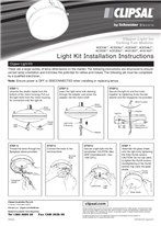 Installation Instructions - F2300/02 - Clipper Light for Ceiling Fan, 21641