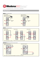 Installation Instructions - Modena 800 Series Wiring Diagrams, 13798