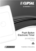 Installation Instructions - F1394/04 - 31VETR3 Series Push Button Electronic Timer, 22059