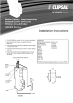 Installation Instructions - F166/06 - 4RCBE Series Module (18mm) 1 Pole Combination, Residual Current Device and Miniature Circuit Breaker, 21101