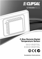 Installation Instructions - F1322/04 - 5031RDTSL and E5031RDTSL C-Bus Remote Digital Temperature Sensor, 22216