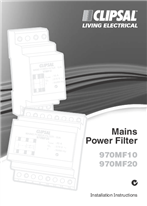 Installation Instructions - F1514/04 - 970MF10 and 970MF20 Mains Power Filter, 17586