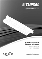 Installation Instructions - F2018/01, RJ1UCMPC, RJ1UCMPSC, 1 RU Horizontal Cable Manager with cover - 22558