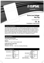 Installation Instructions - F1256/04 - Extra Low Voltage Key Tag 6200KT, 23005