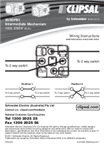 Installation Instructions - F2345/01 - 30/60PBI Intermediate Mechanism 10A 250V, 22928