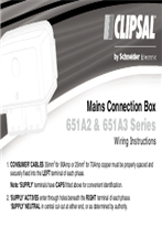 Installation Instructions - F904/04 - 651A2 and 651A3 Series - Mains Connection Box, 22998