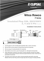 Installation Instructions - F313/04 - Wilco Rowco, Insulated Plug 32A, 250V/500V,3, 4 and 5 Pin Models, 23094