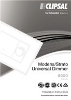 Installation Instructions - F2322/01 - Modena/Strato Universal Dimmer 8000 Series, 23081