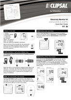 Operating Instructions - F2348/01 - EM422EM-E-KBTS Electricity Monitor Kit, Quick Start Guide, 23049