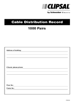 Installation Instructions - F255/04 - Cable Distribution Record, 23310