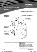 Installation Instructions - F951/02 - 56PMK Pole Mounting Bracket Kit, 23421